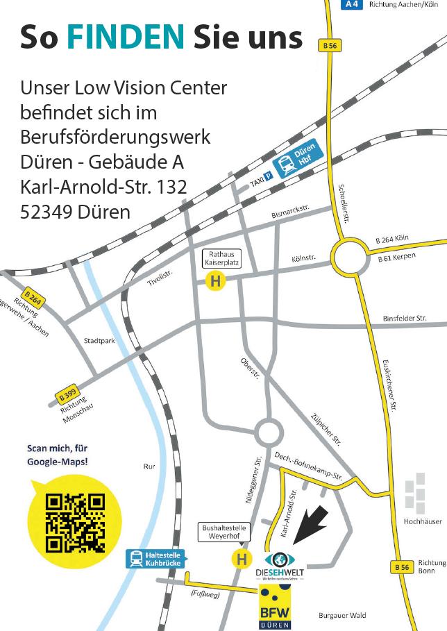 Die-SEHWELT-Karte Anfahrt